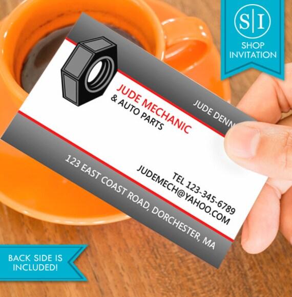 Auto repair business card free shipping etsy image 0 colourmoves