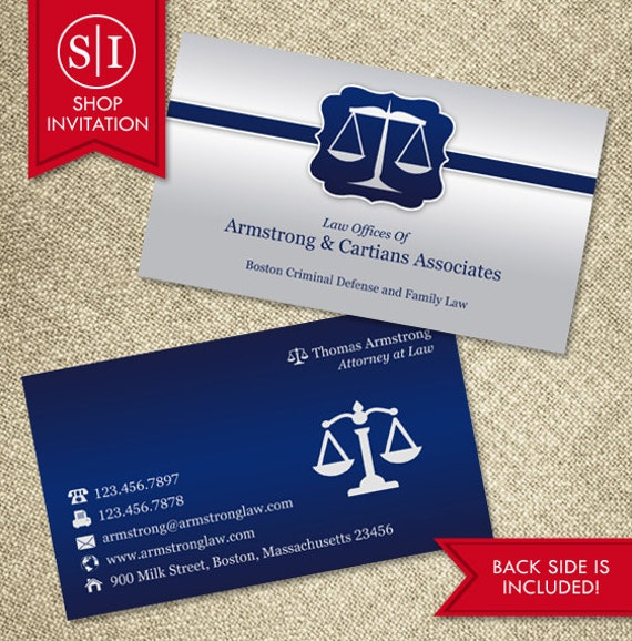 Law business card free shipping etsy image 0 colourmoves