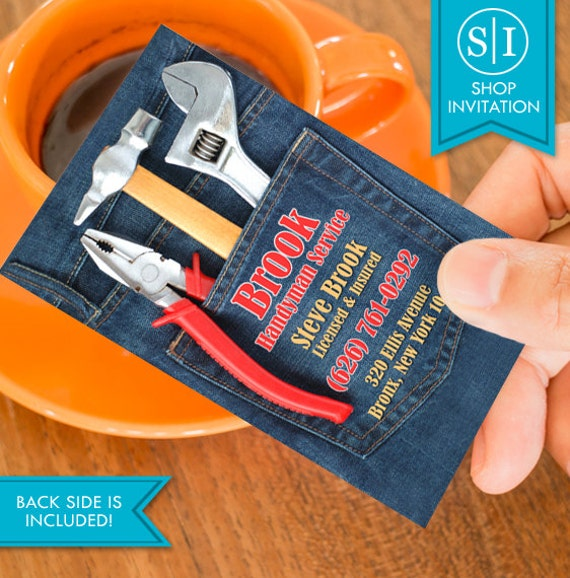 Handyman business card free shipping etsy image 0 colourmoves
