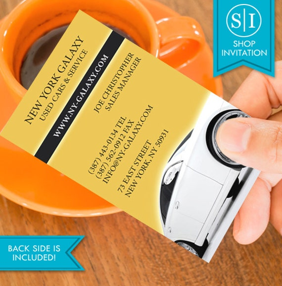 auto car business card free shipping etsy
