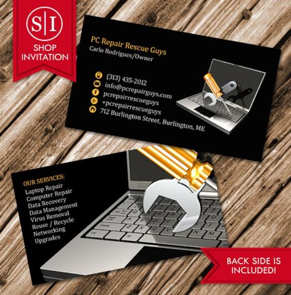 Computer repair business card free shipping reheart Choice Image