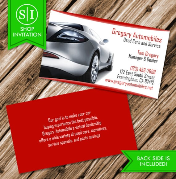 Auto cars business card free shipping etsy image 0 colourmoves