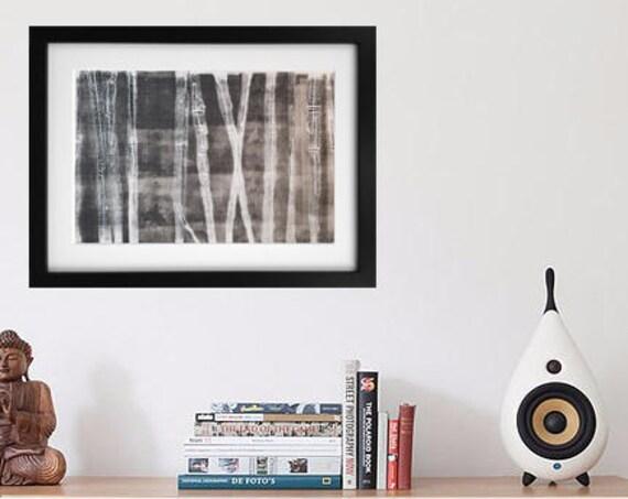 X-Ray Trees  Monotype Print 1/1 Jessica Chapman
