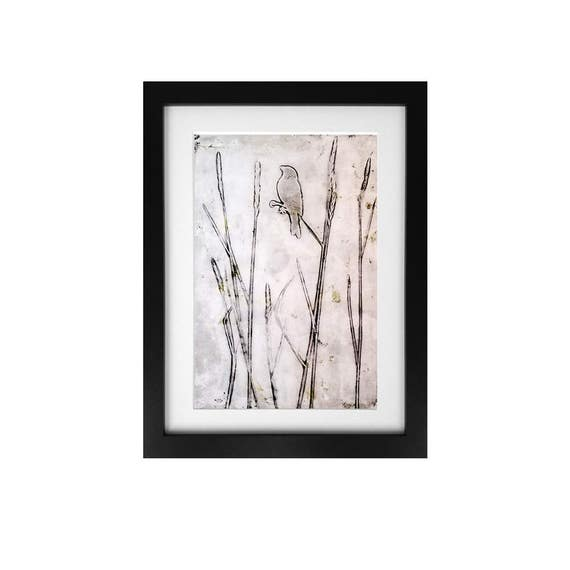 Field Bird  Monotype Print 1/1 Jessica Chapman