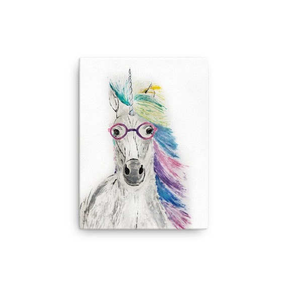 Unicorn Stretched Canvas