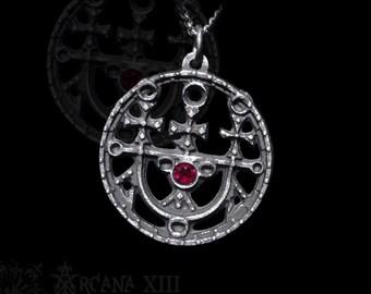 Seal Sigil of Sitri(or Seth), Sigils of Goetia with gemstone of your choice, Satanic Jewelry Sytry, Set, Sutekh, Seti,