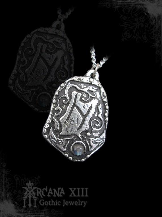a05d318f711 Handmade Hagalaz rune pendant with any gemstones viking
