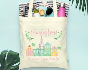 South Carolina Pick a Style Charleston USA City Map Tote Bag