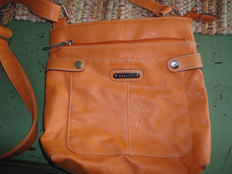 8ad66e5f5aa Rosetti Orange Shoulder Crossbody Purse Handbag Vintage Women's Accessory