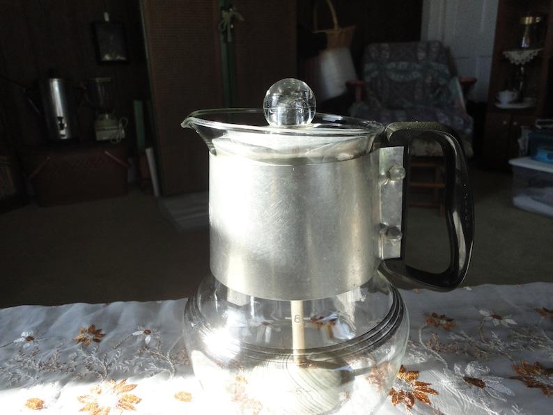 Silex Coffee Percolator Glass 8 Cup Stove Top Pot