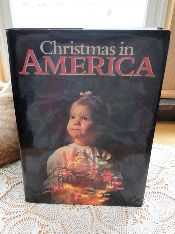 Christmas In America Book.Christmas In America Hard Cover Book Pictorial Works Editor David Cohen Vintage Large Picture Book Collins Publishers