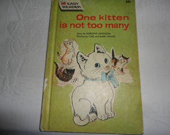 One Kitten Is Not Too Many Vintage Easy Reader Book