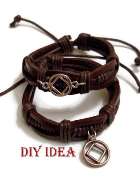 5 Pc Diy Leather Bracelet Adjustable Blank Boho Diy Friendship Bracelet Black
