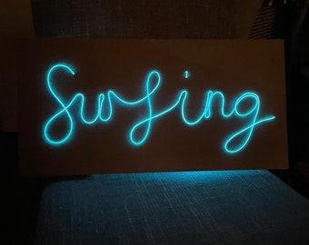 Surfing - EL Wire Neon Sign - Surfers