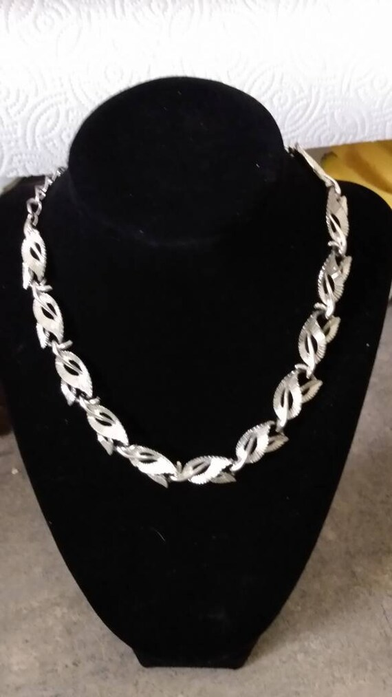 Vintage Coro Silver Choker Necklace Signed