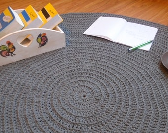 54 colors to choose from!!!  Scandinavian crochet  carpet, crochet rug, round rug, nursery rug, bedroom, bathroom
