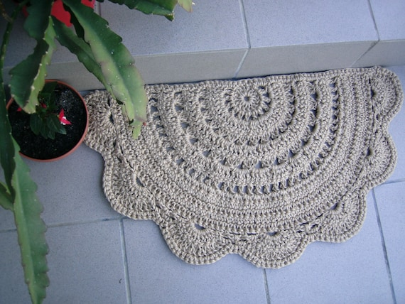 Doormat Half Circle Crochet Jute Door Rug Kitchen Rug Etsy