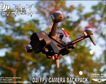 DJI FPV Camera Backpack Mount and Battery Protector