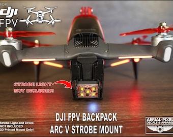 DJI FPV Backpack Strobe Mount and Battery Protector for Firehouse ARC V