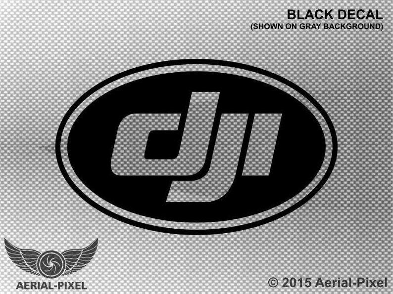 DJI Oval Logo Window or Case Decal Sticker for Phantom 1 2 ...