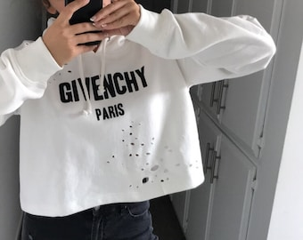 8712c5864bd Givenchy Inspired distressed hoodie