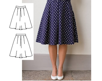 Womens Skirt Pattern, Ladies Skirt Pattern, Womens Sewing Pattern PDF, Midi Skirt Pattern for Women
