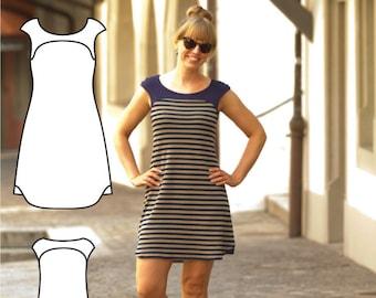 T shirt dress pattern - Tee Shirt Dress Pattern - T-Shirt Dress Sewing Pattern - Tee-shirt Dress patterns PDF