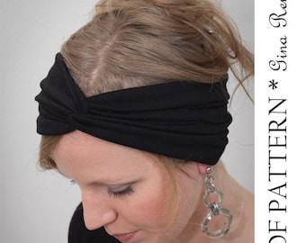 Twist Headband Sewing Pattern. Ear Warmer Pattern - PDF Sewing pattern
