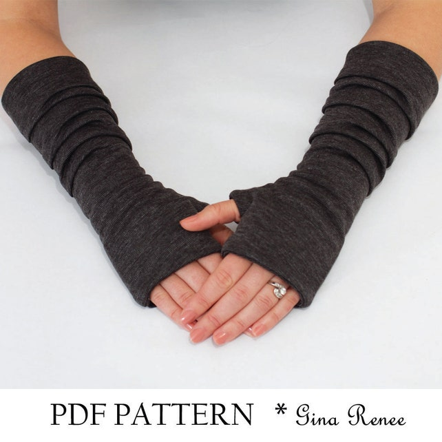 Fingerless Gloves Pattern With Pleats Pdf Glove Sewing Etsy