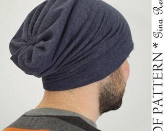 Oversized Slouchy Beanie Pattern. Slouch Beanie pattern. Slouchy Hat Pattern. Sewing Pattern