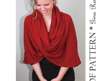 Infinity Scarf Pattern. Hooded Scarf pattern. Infinity Shawl patterns - PDF sewing patterns