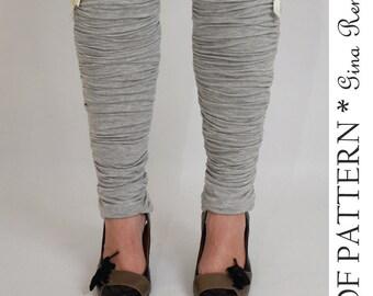 Leg Warmer and Boot Cuff Sewing Pattern. Womens Boot sock and Legwarmers PDF Sewing Pattern