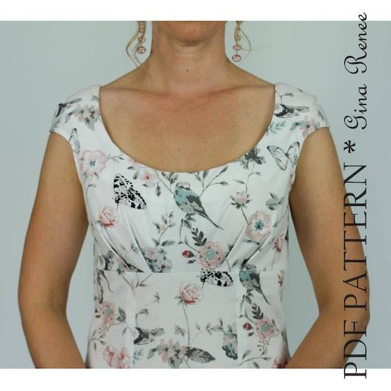 Womens Dress Sewing PDF Pattern Womens Sewing Pattern | Etsy