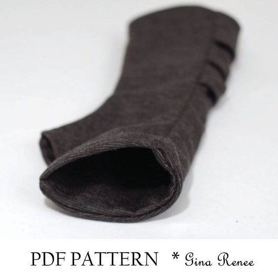 3 Fingerless Gloves Patterns. PDF Glove Sewing Patterns - combo pack ...