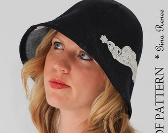 Cloche Hat Pattern. PDF Pattern for Sewing. Summer Hat or Winter Hat.