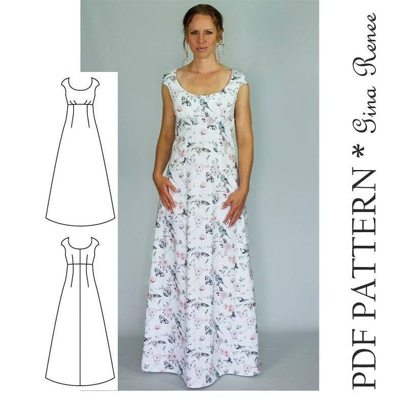 4b755c57447d Maxi Dress Sewing PDF Pattern Womens Maxi Dress Pattern | Etsy