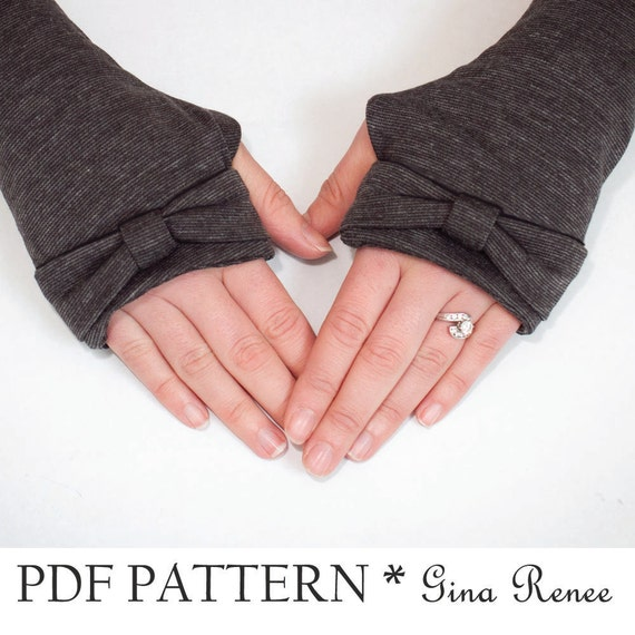 Fingerless Gloves Sewing Pattern. Arm Warmer Pattern - PDF Sewing ...