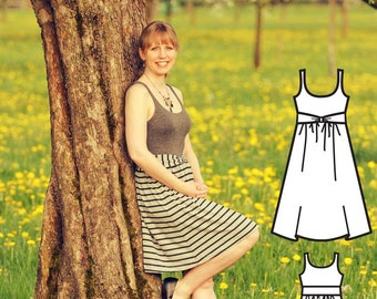 Ladies Dress Pattern - Dress Sewing Pattern - Dress pattern PDF