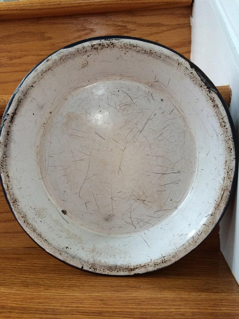 Vintage Blue Graniteware Pie Plate