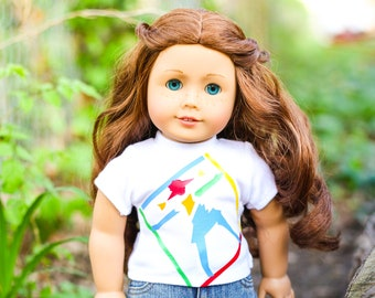 TOP Fits 18 inch  American Girl Doll Clothes WHITE COTTON CAMI  BLOUSE NEW  4803
