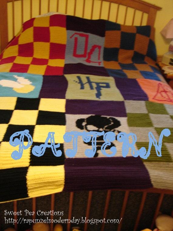 harry potter blanket PATTERN Harry Potter Blanket DIGITAL Crochet PATTERN Harry | Etsy harry potter blanket