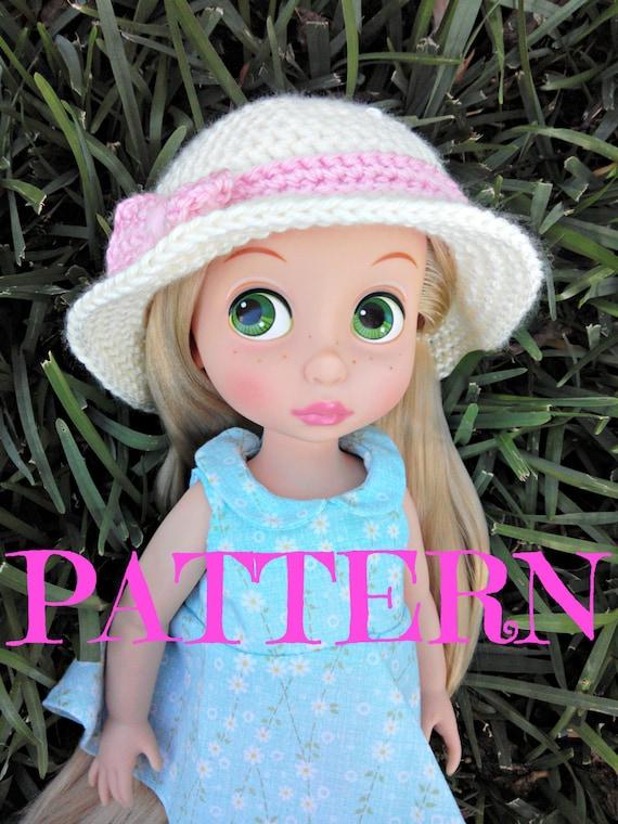 Crochet Pattern: Doll Sun Hat (Crochet Spot) | Crochet sun hat ... | 760x570