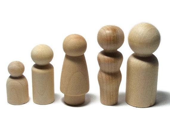 17 Stücke Holz Peg Puppen Menschen Körper Holzfiguren Spielfiguren