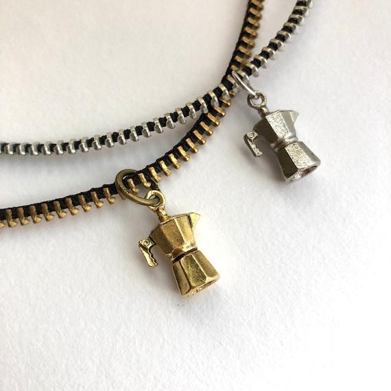 Coffeepot Zipper Necklace