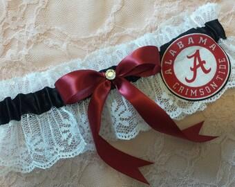 Shower Gift Football Garter Garter Roll Tide Bling Garter Wine Garter Sports Garter Wedding Garter Fall Garter Alabama Garter