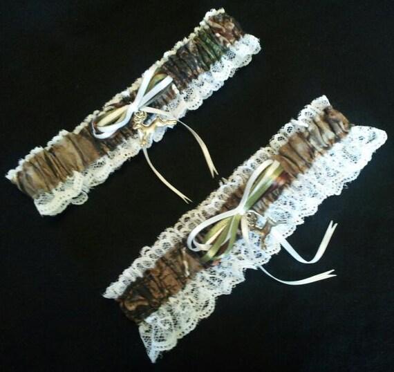 Camo Garter For Wedding: Hunting Deer Camo Camouflage Realtree Wedding Garter Belt