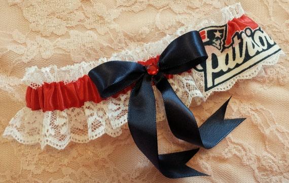 New England Patriots handmade bridal wedding keepsake garter