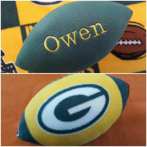 Personalized Handcrafted Fleece Fabric Soft Football Collectible Pillow Toy Plush Stuffed Indoor Ball Made Using Chicago Bears Fabric