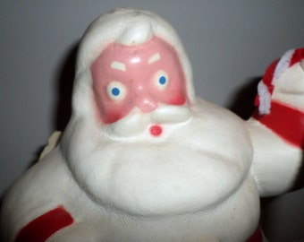 1940s Santa, 1940s, Christmas decoration, Pressed paper, Holiday, Figural Candy Container. Shiny brite, Santa decoration, antique, vintage