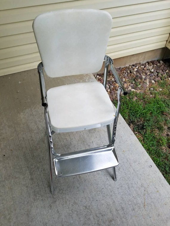 Pleasing Vintage Cosco Folding High Chair With Stainless Steel Tray Mid Century Mcm Kitchen Stool Beautiful Condition Near Mint Chrome Creativecarmelina Interior Chair Design Creativecarmelinacom